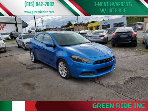 2016 Dodge Dart for sale at Green Ride Inc in Nashville TN