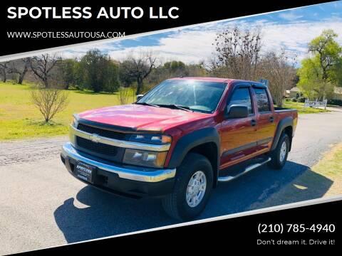 2006 Chevrolet Colorado for sale at SPOTLESS AUTO LLC in San Antonio TX