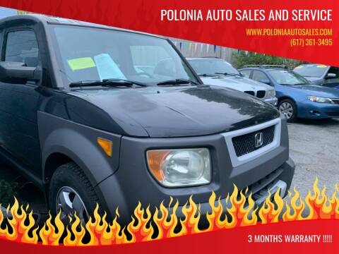 2004 Honda Element for sale at Polonia Auto Sales and Service in Hyde Park MA