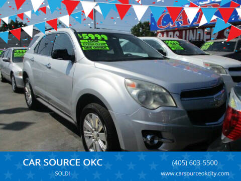 2011 Chevrolet Equinox for sale at CAR SOURCE OKC in Oklahoma City OK