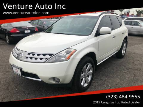 2007 Nissan Murano for sale at Venture Auto Inc in South Gate CA