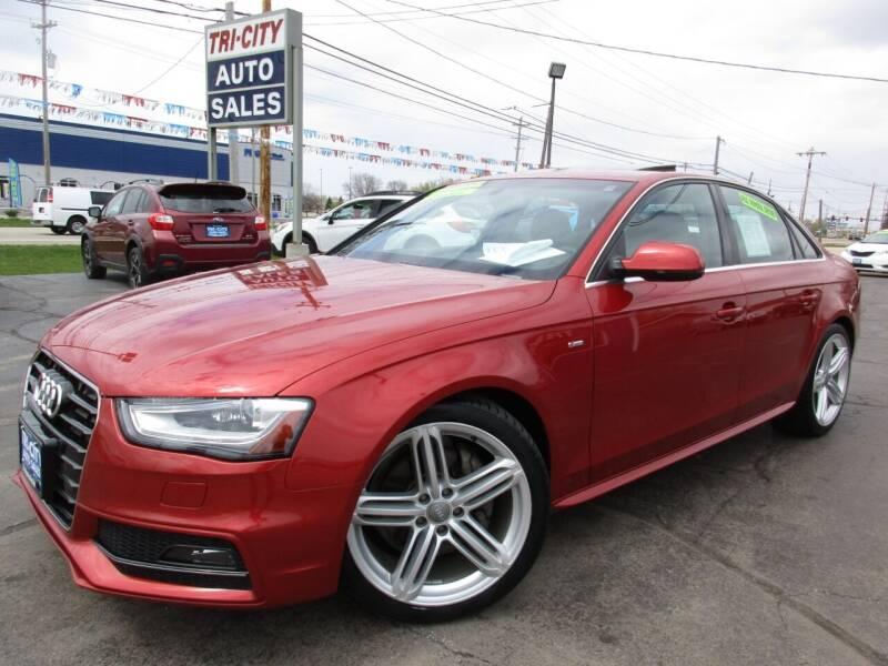 2013 Audi A4 for sale at TRI CITY AUTO SALES LLC in Menasha WI