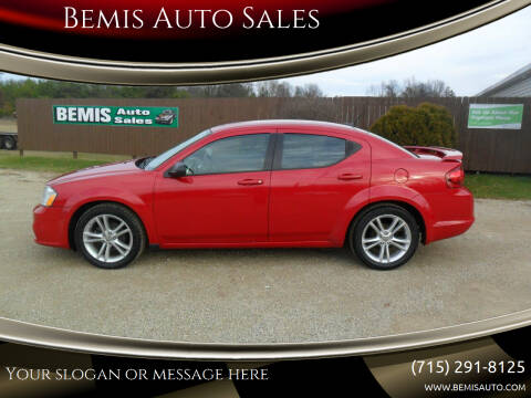 2012 Dodge Avenger for sale at Bemis Auto Sales in Crivitz WI