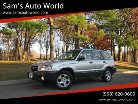 2005 Subaru Forester for sale at Sam's Auto World in Roselle NJ