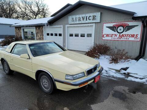 1989 Chrysler TC for sale at CRUZ'N MOTORS - Classics in Spirit Lake IA