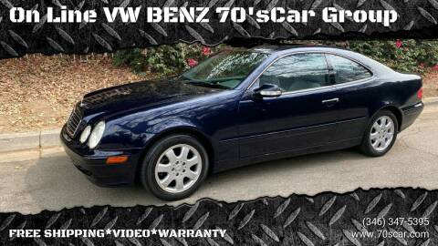 2002 Mercedes-Benz CLK for sale at On Line VW BENZ 70'sCar Group in Warehouse CA