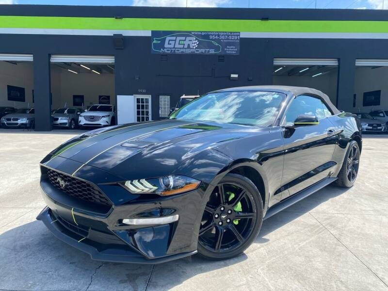 2018 Ford Mustang for sale at GCR MOTORSPORTS in Hollywood FL