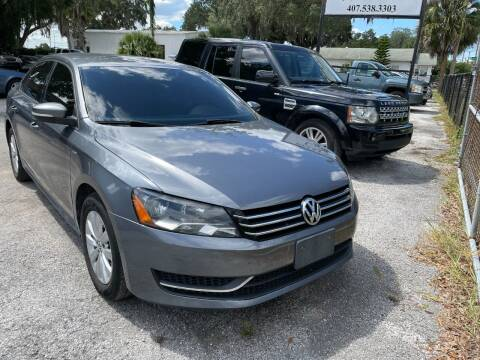 2014 Volkswagen Passat for sale at Select Cars Of Winter Park Inc in Orlando FL