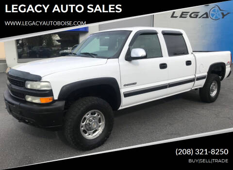 2002 Chevrolet Silverado 1500HD for sale at LEGACY AUTO SALES in Boise ID