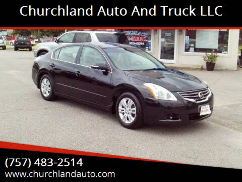 2010 Nissan Altima for sale at Churchland Auto and Truck LLC in Portsmouth VA