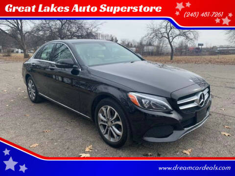 2016 Mercedes-Benz C-Class for sale at Great Lakes Auto Superstore in Pontiac MI