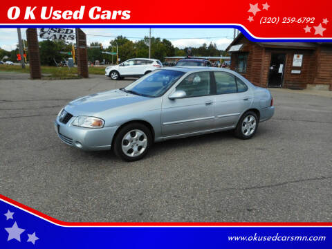 2004 Nissan Sentra for sale at O K Used Cars in Sauk Rapids MN