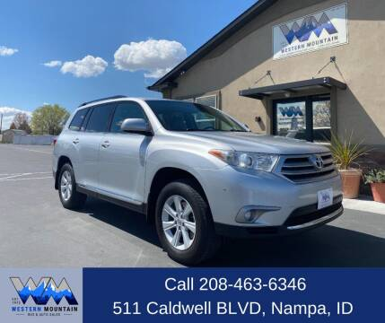 2013 Toyota Highlander for sale at Western Mountain Bus & Auto Sales in Nampa ID