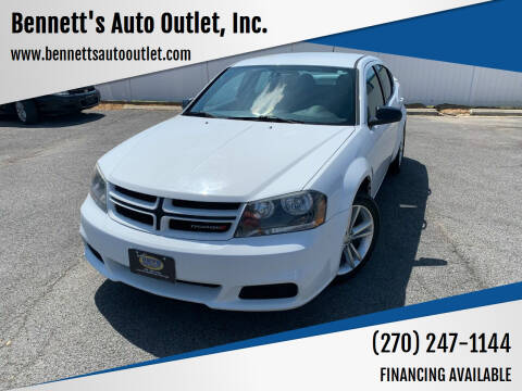 2014 Dodge Avenger for sale at Bennett's Auto Outlet, Inc. in Mayfield KY
