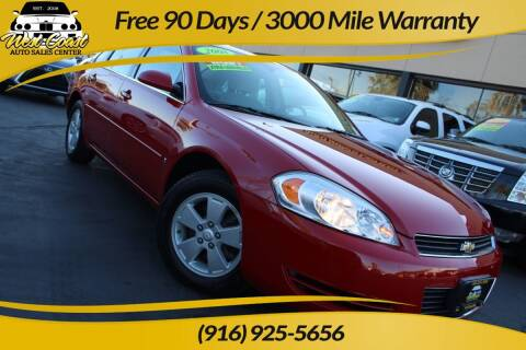 2008 Chevrolet Impala for sale at West Coast Auto Sales Center in Sacramento CA