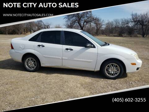 2006 Ford Focus for sale at NOTE CITY AUTO SALES in Oklahoma City OK
