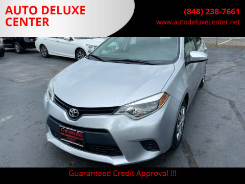 2014 Toyota Corolla for sale at AUTO DELUXE CENTER in Toms River NJ