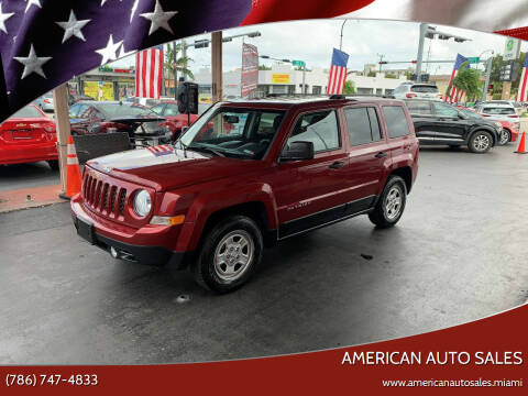 2016 Jeep Patriot for sale at American Auto Sales in Hialeah FL