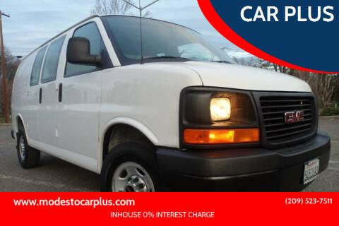 2012 GMC Savana Cargo for sale at CAR PLUS in Modesto CA