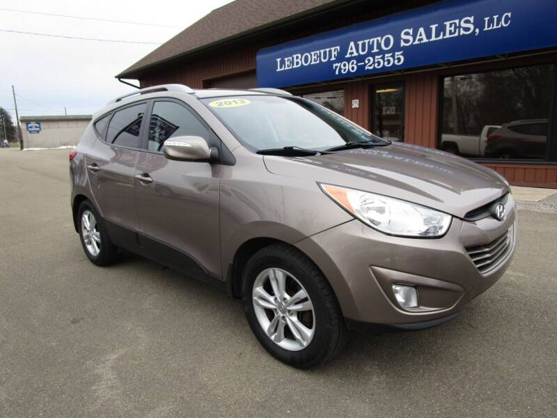 2013 Hyundai Tucson for sale at LeBoeuf Auto Sales in Waterford PA