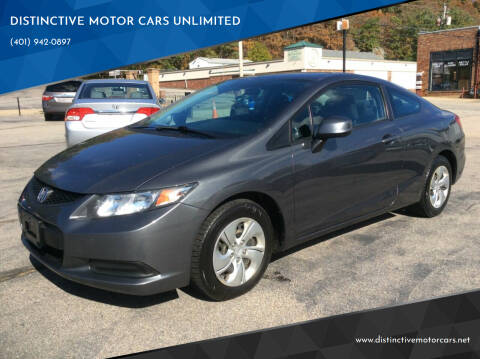 2013 Honda Civic for sale at DISTINCTIVE MOTOR CARS UNLIMITED in Johnston RI