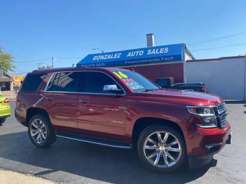 2016 Chevrolet Tahoe for sale at Gonzalez Auto Sales in Joliet IL