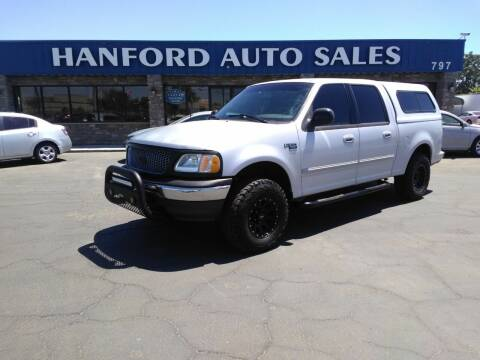 2002 Ford F-150 for sale at Hanford Auto Sales in Hanford CA
