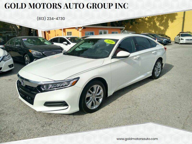 2018 Honda Accord for sale at Gold Motors Auto Group Inc in Tampa FL