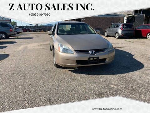 2004 Honda Accord for sale at Z Auto Sales Inc. in Rocky Mount NC
