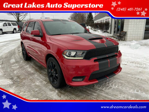 2019 Dodge Durango for sale at Great Lakes Auto Superstore in Pontiac MI