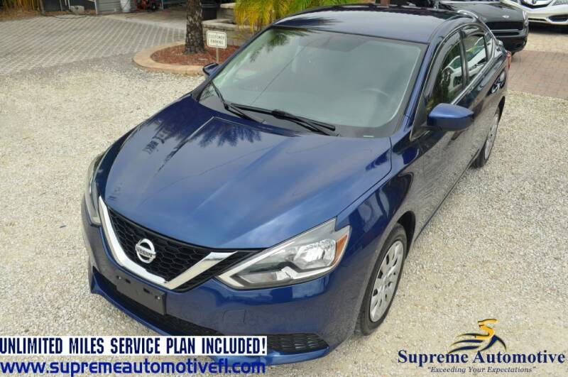 2017 Nissan Sentra for sale at Supreme Automotive in Land O Lakes FL
