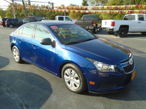 2012 Chevrolet Cruze for sale at River City Auto Sales in Cottage Hills IL