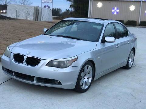 2005 BMW 5 Series for sale at Two Brothers Auto Sales in Loganville GA