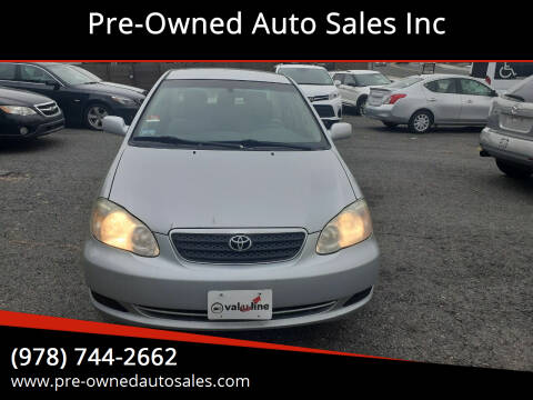 2006 Toyota Corolla for sale at Pre-Owned Auto Sales Inc in Salem MA