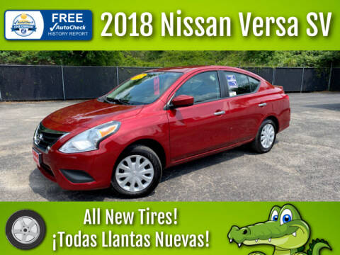2018 Nissan Versa for sale at LIQUIDATORS in Houston TX