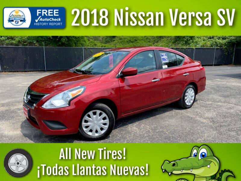 2018 Nissan Versa for sale at LIQUIDATORS in Houston TX