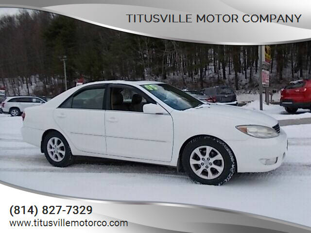 2005 Toyota Camry for sale at Titusville Motor Company in Titusville PA