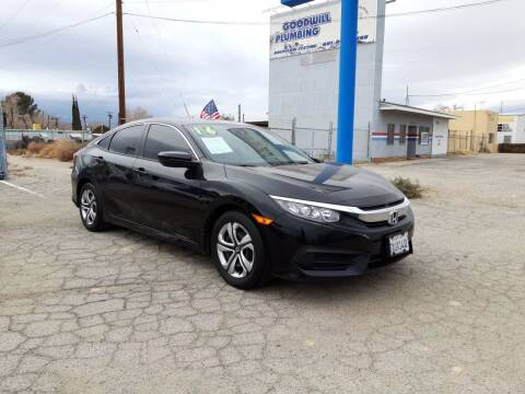 2016 Honda Civic for sale at Autosales Kingdom in Lancaster CA