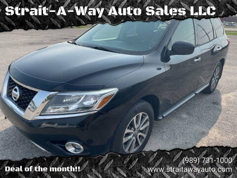 2013 Nissan Pathfinder for sale at Strait-A-Way Auto Sales LLC in Gaylord MI