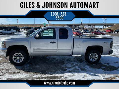 2013 Chevrolet Silverado 1500 for sale at GILES & JOHNSON AUTOMART in Idaho Falls ID