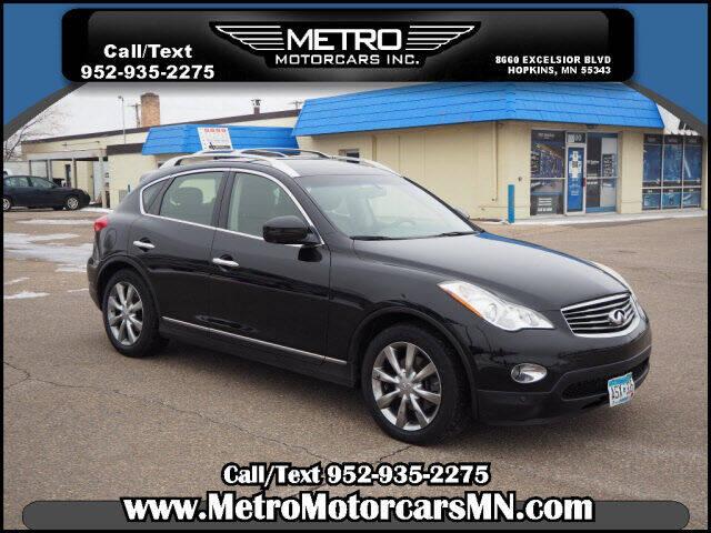 2011 Infiniti EX35 for sale at Metro Motorcars Inc in Hopkins MN