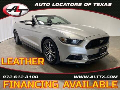 2016 Ford Mustang for sale at AUTO LOCATORS OF TEXAS in Plano TX