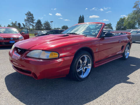 1998 Ford Mustang SVT Cobra for sale at Universal Auto Inc in Salem OR