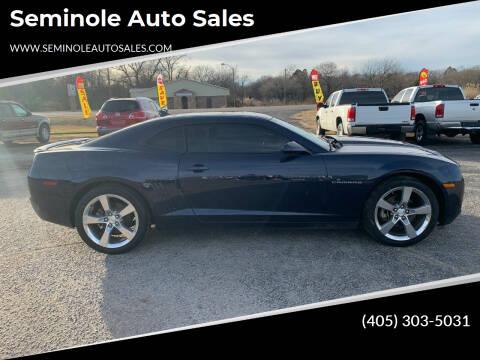 2010 Chevrolet Camaro for sale at Seminole Auto Sales in Seminole OK
