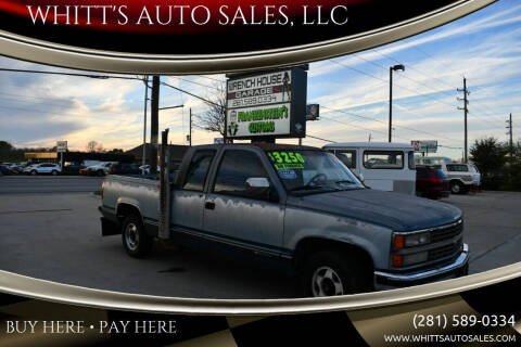 1990 Chevrolet C/K 1500 Series for sale at WHITT'S AUTO SALES, LLC in Houston TX