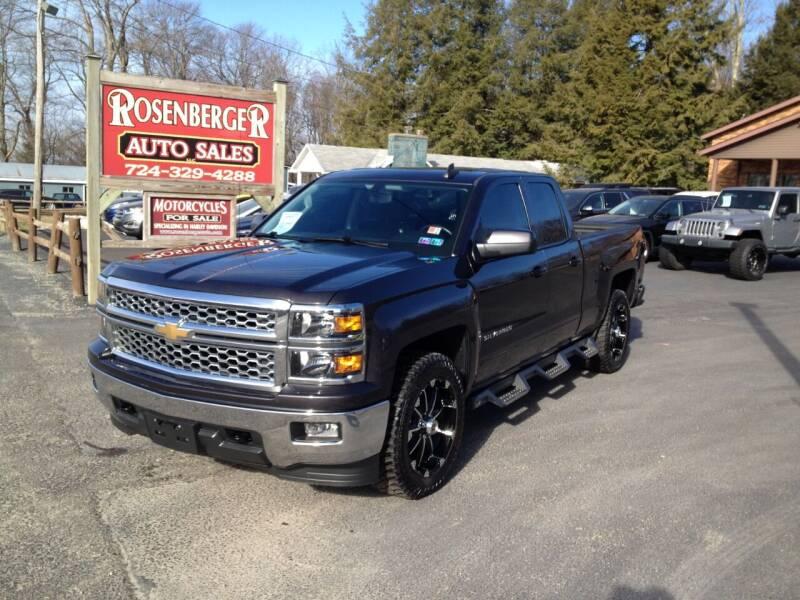2015 Chevrolet Silverado 1500 for sale at Rosenberger Auto Sales LLC in Markleysburg PA