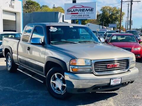 2002 GMC Sierra 1500 for sale at Supreme Auto Sales in Chesapeake VA