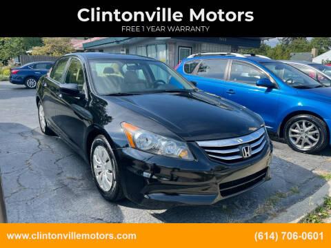 2012 Honda Accord for sale at Clintonville Motors in Columbus OH