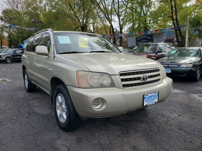 2003 Toyota Highlander for sale at New Plainfield Auto Sales in Plainfield NJ
