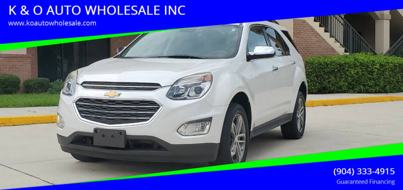 2016 Chevrolet Equinox for sale at K & O AUTO WHOLESALE INC in Jacksonville FL